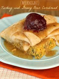 open faced thanksgiving turkey sandwich cornbread the weary chef
