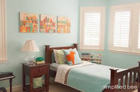 orange and blue bedroom traditional boys bedroom in blue and orange simplified bee