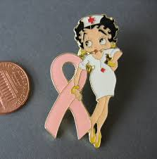 betty boop nurse pink ribbon lapel pin and 22 similar items