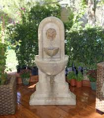 decorating classic carving stone of lion lowes water fountains