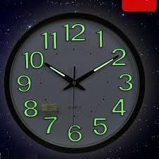 best wall clocks 30cm modern design luminova glow in the dark wall clock with mute