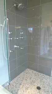 glass 4 x 12 subway tile custom shower tile showers and