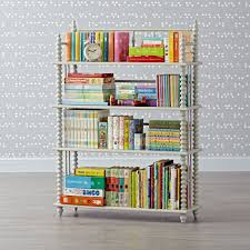 jenny lind azure bookcase the land of nod