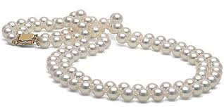 long silver pearl necklace images White akoya double strand pearl necklace 6 5 7 0mm jpg&a