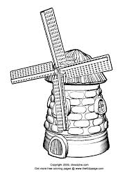 windmill free coloring pages kids printable colouring sheets