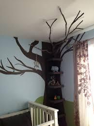 destry u0027s nursery tree bookshelf with real tree branch vinyl