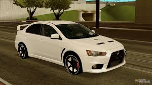 mitsubishi evolution 10 lancer evo x evolution for gta san andreas