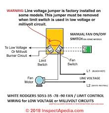 white rodgers fan limit control how to install wire the fan limit controls on furnaces honeywell
