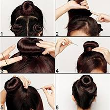 chignon tool shells 3pcs black hairdressing tool