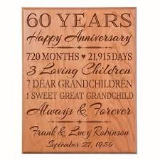 60th wedding anniversary gifts 60th wedding anniversary gift wooden wall hanging plaque sign