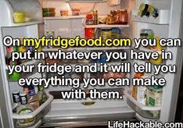 my fridge food a