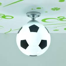 Kids Bedroom Lights Kid U0027 Bedroom Glass Football Ceiling Light Creative Soccer