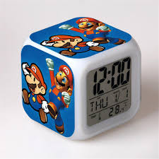 desk alarm clock 2017 new super mario creative led alarm clock digital clock desk