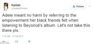 adele faces backlash for beyonce black friends comment daily