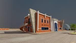 exterior design pattern of modern architecture desert djillali