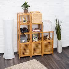 Wohnzimmerschrank F Kleidung Relaxdays Badregal Bambus Mit 3 Ablageflächen Hxbxt 80x36 5x33 Cm