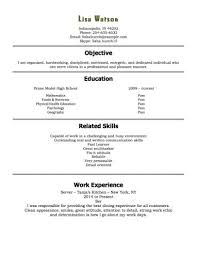 first time resume templates first job resume template template