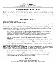 Sales And Marketing Resume Examples by Analyst Resume
