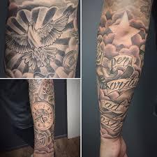 finished forearm sleeve added cloud everything else healed