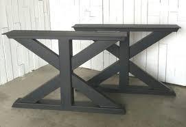 Outdoor Table Legs Trestle Metal Table Legs Urban Ironcraft
