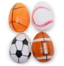 sports easter eggs 5 large easter eggs decorated like sports balls football soccer
