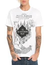 Harry Potter Marauders Map Harry Potter Marauder U0027s Map T Shirt Topic Harry Potter