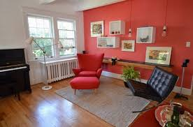 colors add beauty in your living room and paint one wall of your