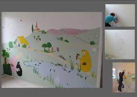 chambre barbapapa murs intérieurs décor peint
