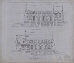 philip hubert frohman architectural drawings at the national east and west elevations of the cathedral of the incarnation baltimore pro cathedral baltimore md frohman robb little