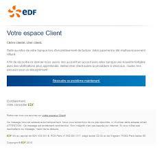 edf si e social adresse faux email edf phishing relation client edf com