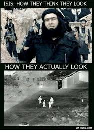 Islam Meme - isis how they think they look how they actually look via 9gagcom n