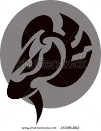 aries sign tribal stock vector 450054952