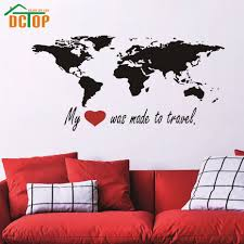 World Map Wall Decal Compare Prices On Travel Wall Map Online Shopping Buy Low Price