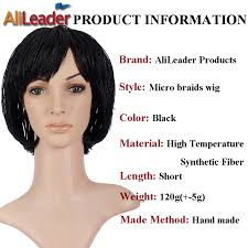 alileader products box braid wig with baby hair best black short