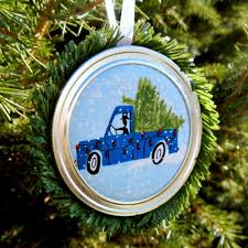 fun and easy to make mason jar lid christmas ornaments an