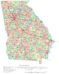 Map Of United States With Interstate Highways by Large Administrative Map Of Georgia State With Roads Highways And