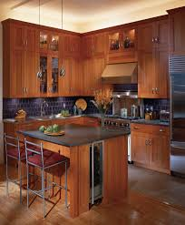 dazzling l shape brown kitchen cabinets featuring white color