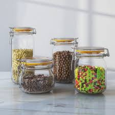 glass kitchen canister set wayfair basics wayfair basics 4 cl lid glass kitchen