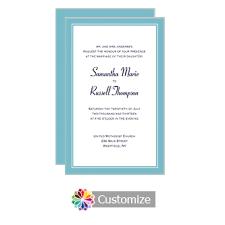 Flat Wedding Programs Classical Wedding Stationery Custom Personalization Of Wedding