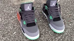 green glow 4 air 4 iv retro green glow on