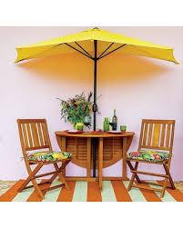 Half Umbrella Patio Spectacular Deal On Improvements 9 Half Patio Umbrella Yellow