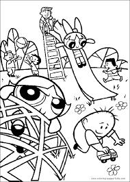 The Powerpuff Girls Color Page Coloring Pages For Kids Cartoon Power Puff Coloring Page