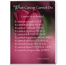 cancer cards 4021 what cancer cannot do support greeting card by