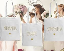 bridal party tote bags bridesmaid totes etsy