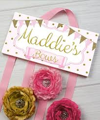 hair bow holder hair bow holder personalized soft pink and gold dots