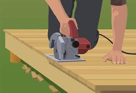 steps to build a ground level deck at the home depot