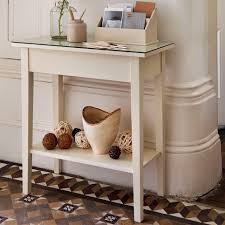 Small Console Table Small Modern Wood Console Table With Glass Top And Shelf Painted