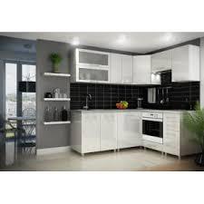 cuisine d usine dusine cuisine blanc laquée infinity 9 éléments angle pas cher