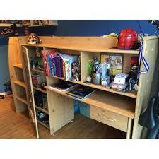 bureau coulissant combiné enfant avec matelas 90 190 étagères bureau coulissant