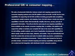 gis class online online at 10 1 society for conservation gis 2011